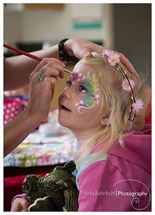 Facepainting fae painting rainbowlily fairy christchurch rangiora