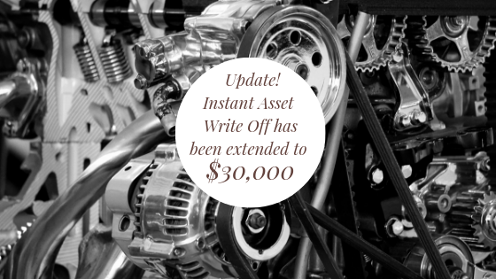 Instant Asset Write-off now $30K