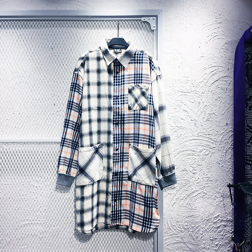 Gym Master - Multi Checked Shirt Dress
