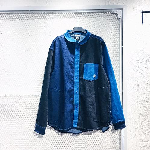 Gym Master - Round Collar Button Up Long Shirt