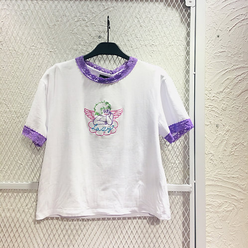 Lazy Oaf- LAZY Cherub Fitted TEE