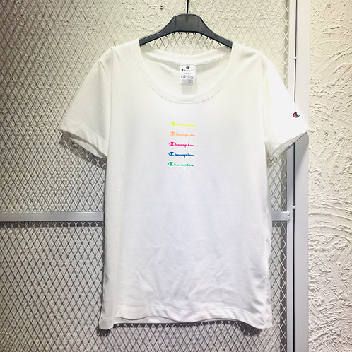 Champion- Champion Rainbow Color Logo Tee