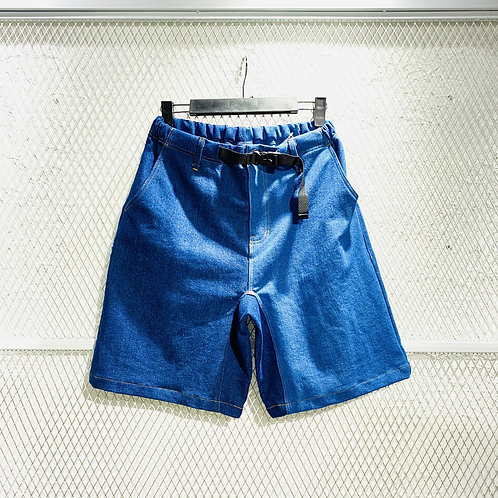 Power To The People- Color Mix Denim Shorts