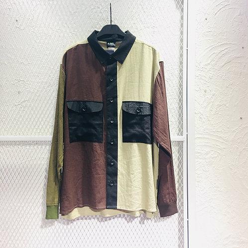 Gym Master- Color Mix Linen Shirt