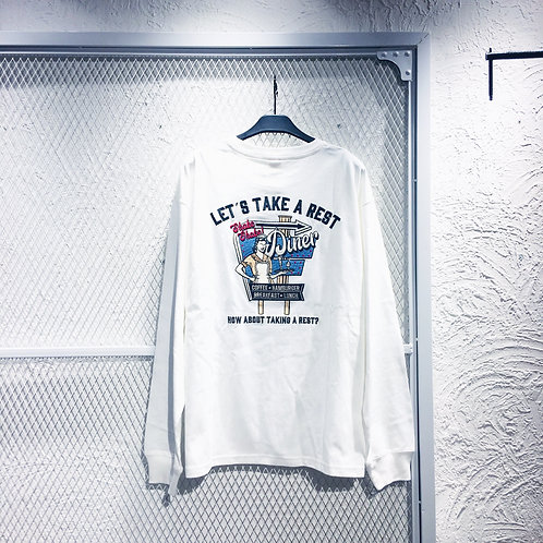 Power To  The People- Diner Retro LS Tee