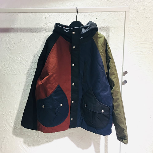 Gym Master - Color Mix Quilted Hood Jacket