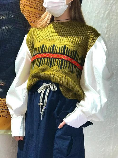 Korea Flow - Shirt Slv Knit Top