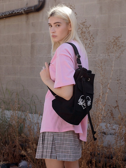 Eyeye- Heart Logo Drawcord Bag