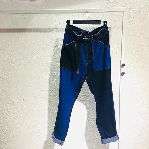 Gym Master - Color Mix Denim Pants