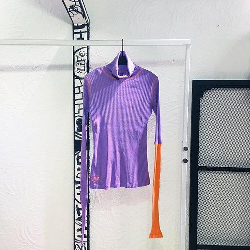 Eyeye - Sleeve Knot Color Combination Top