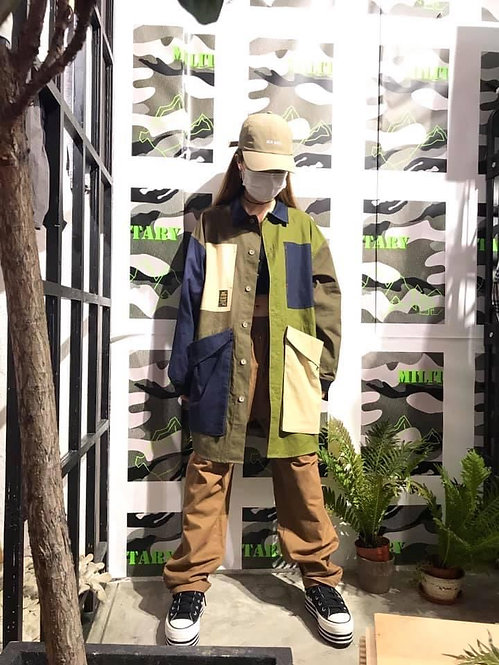 Gym Master - Multi Col Button Up Jacket