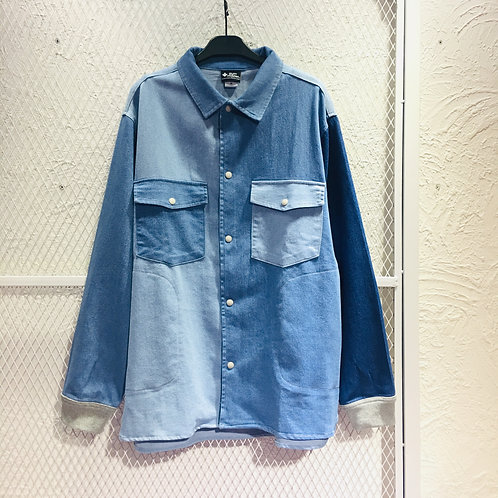Gym Master - Color Mix Denim Shirt