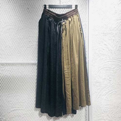 Gym Master- Linen Color Mix Wide Leg Pants