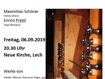 Konzert am Freitag, 06. September 2019