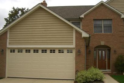 16x7 sahara tan raised standard panel with standard colonial windows