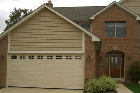 16x7 sahara tan raised standard panel with standard colonial windows