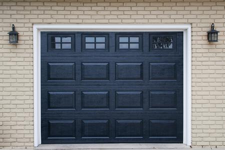 8x7 black raised standard panel with standard colonial windows
