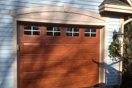 8x7 mahogany raised standard panel with st. edward windows
