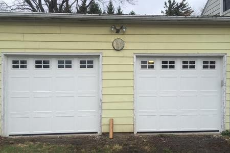 8x7 polar white recessed short panel with standard colonial windows