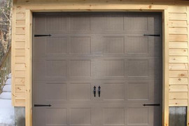 10x10 sandstone ribbed short panel with decorative handles and hinges
