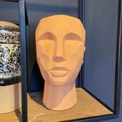 Abstract head sculpture terra-cotta - 36e