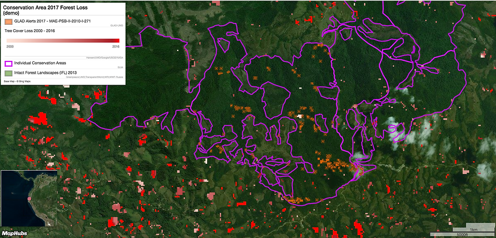 Monitoring Conservation areas in Ecuador