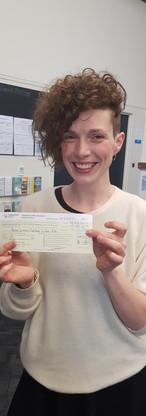 Pauline Le Clerc passes drivers licence.