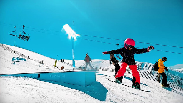 Freestyle Snowboarding in Grandvalira, Andorra
