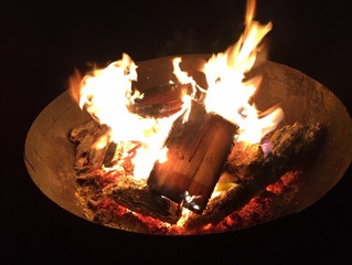 Camp fires at Kentmere Farm Pods