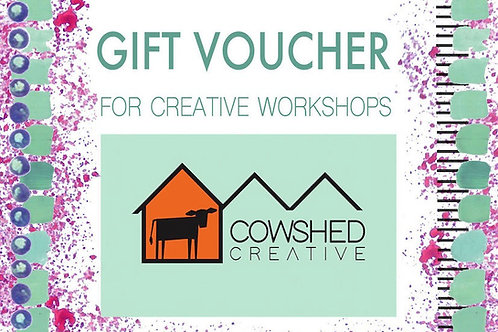 Gift voucher for Cowshed Creative