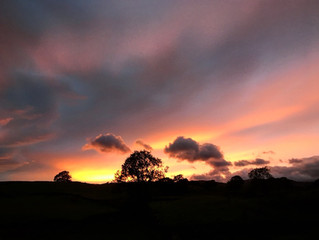 Stunning sunsets at Kentmere Farm Pods
