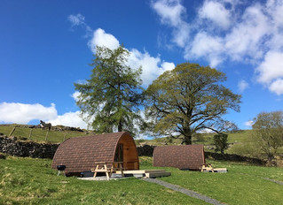 Amazing blue skies at Kentmere Farm  Pods