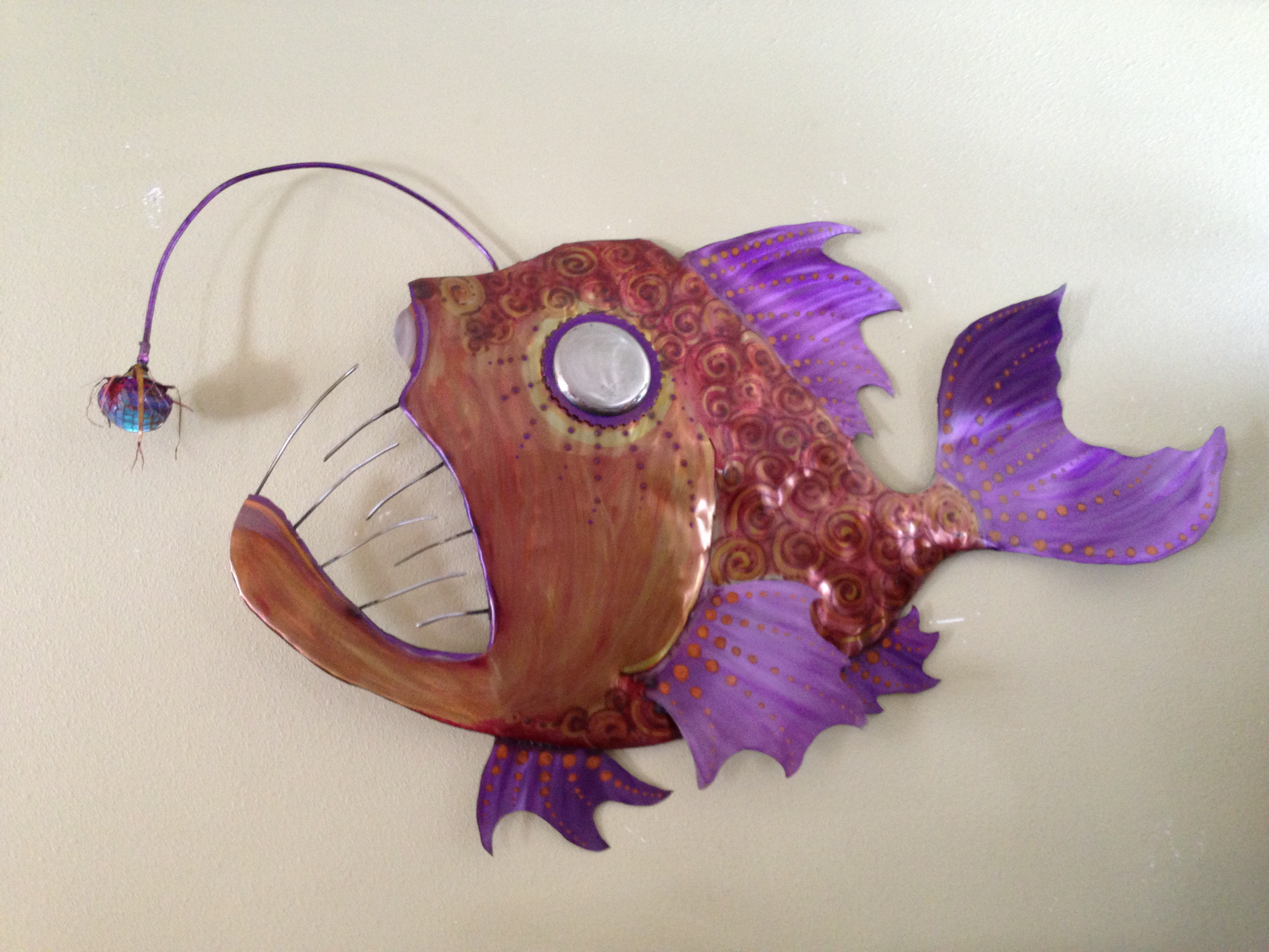 angler fish with working light