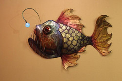 First Angler fish with working light