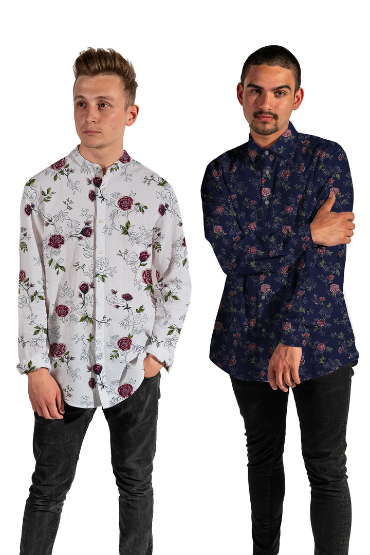 Roses Print Shirt Visualisation