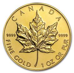 1oz Gold Canadian Maple Leaf