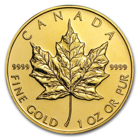 1oz Gold Canadian Maple Leaf