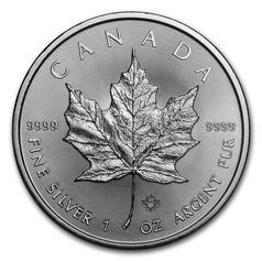 1oz Silver Canadian Maple Leaf