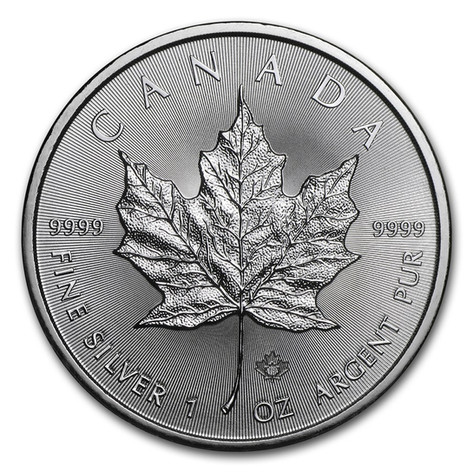 1oz Silver Canadian Maple Leaf