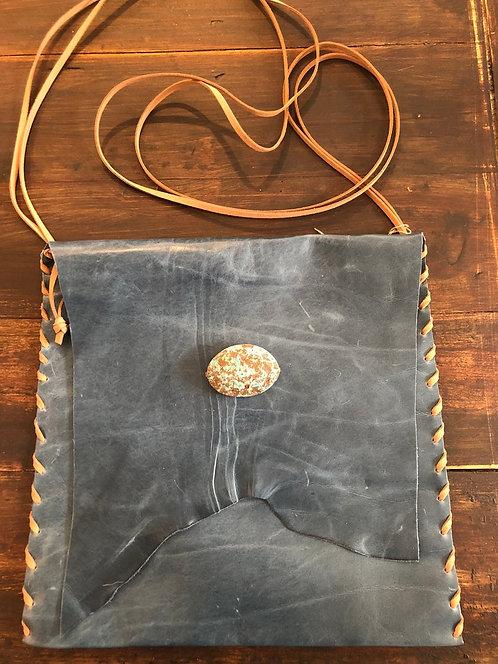 Crossbody Royal Blue Leather Handbag