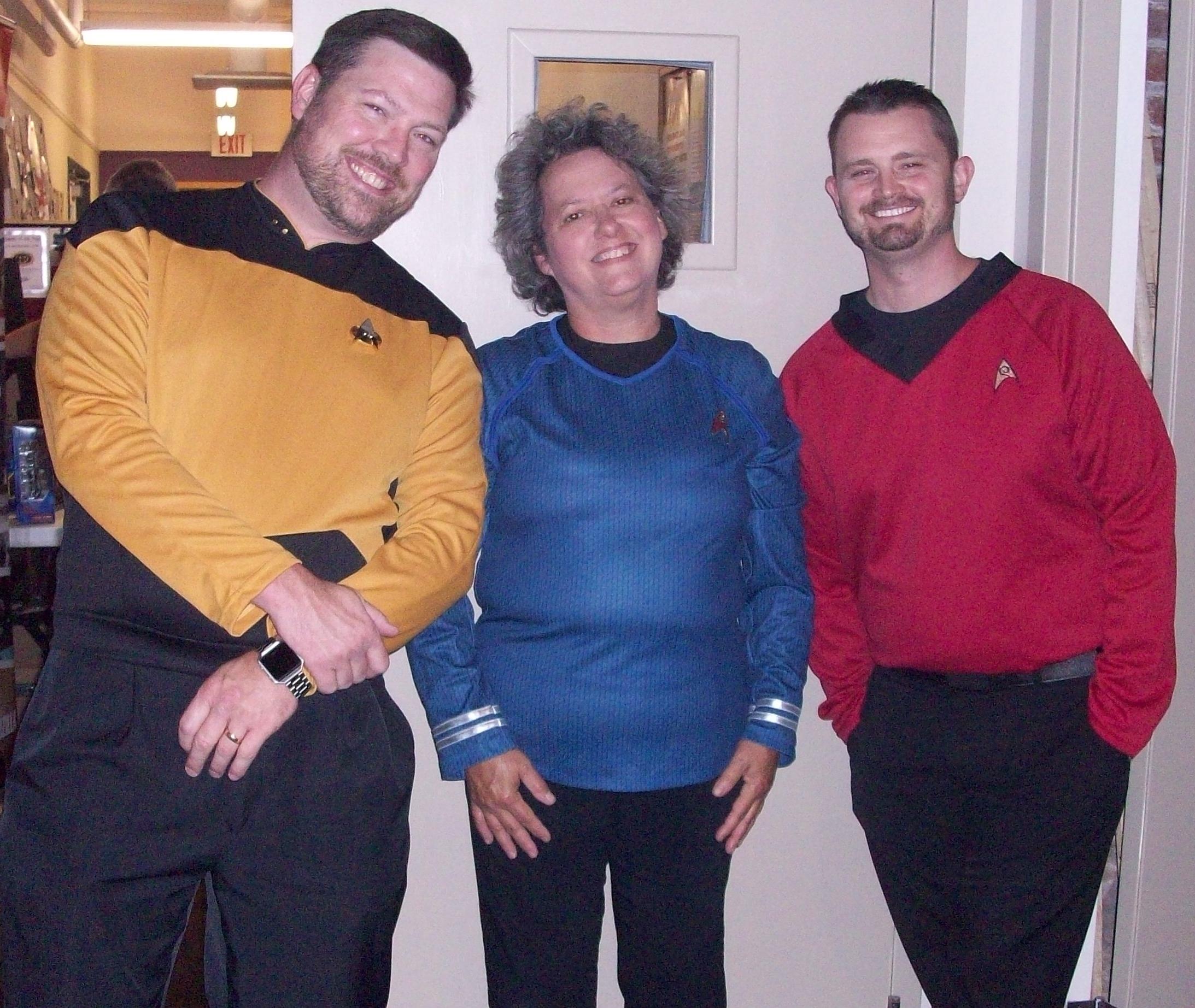 Jonathan, Pam, and Brett