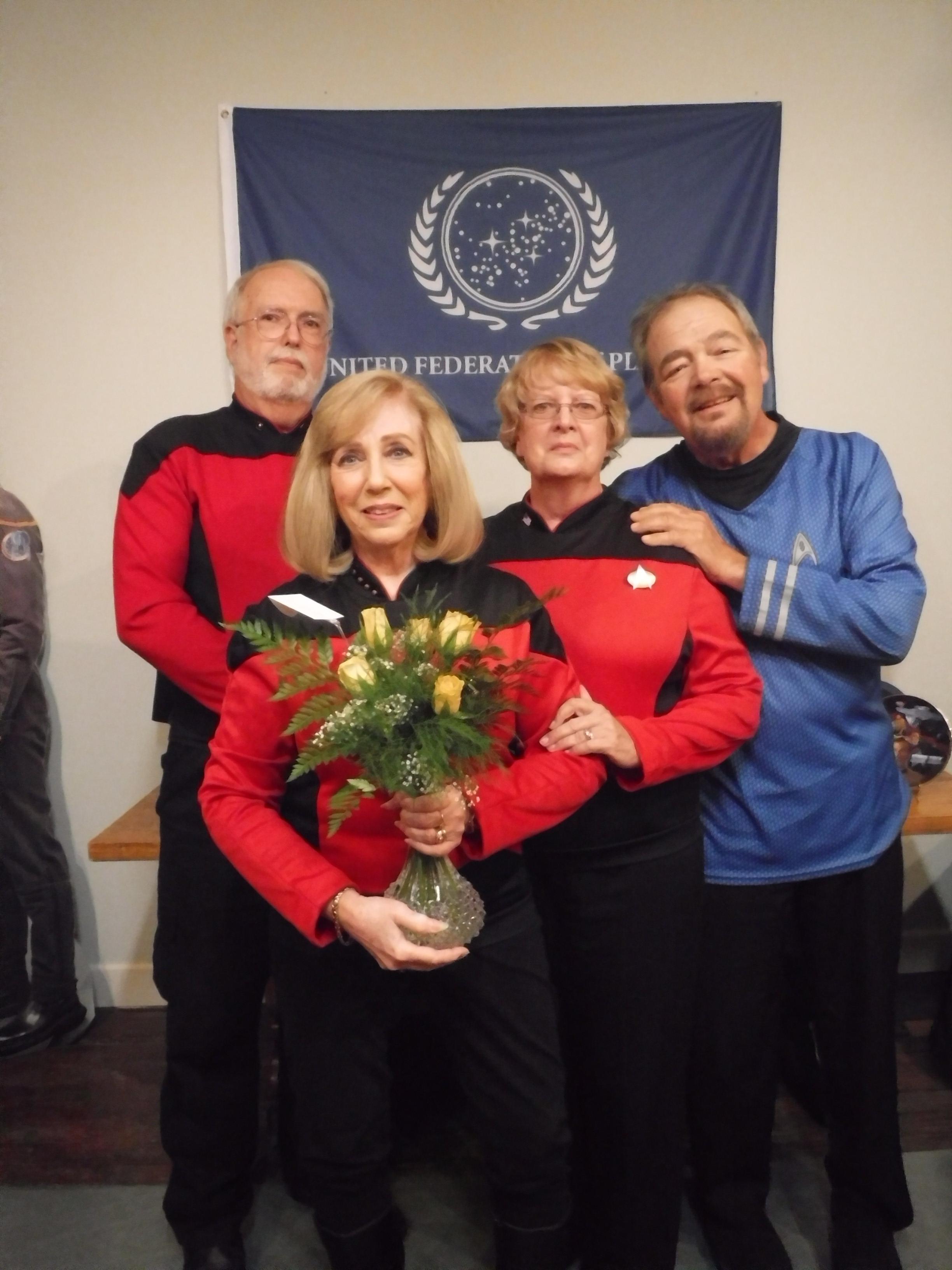 Linda Being Presented Roses