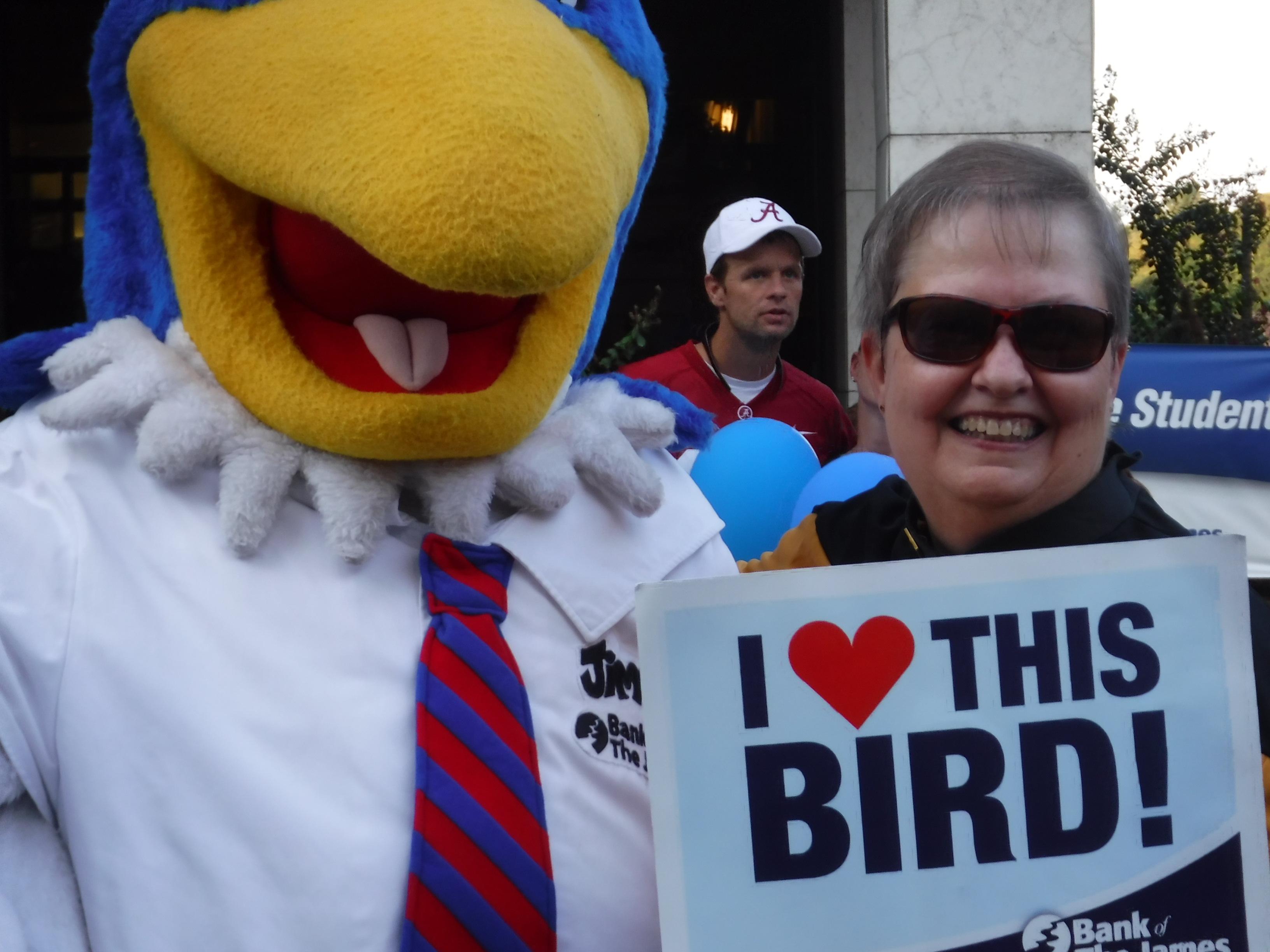 Glenda at Get Downtown with Bird