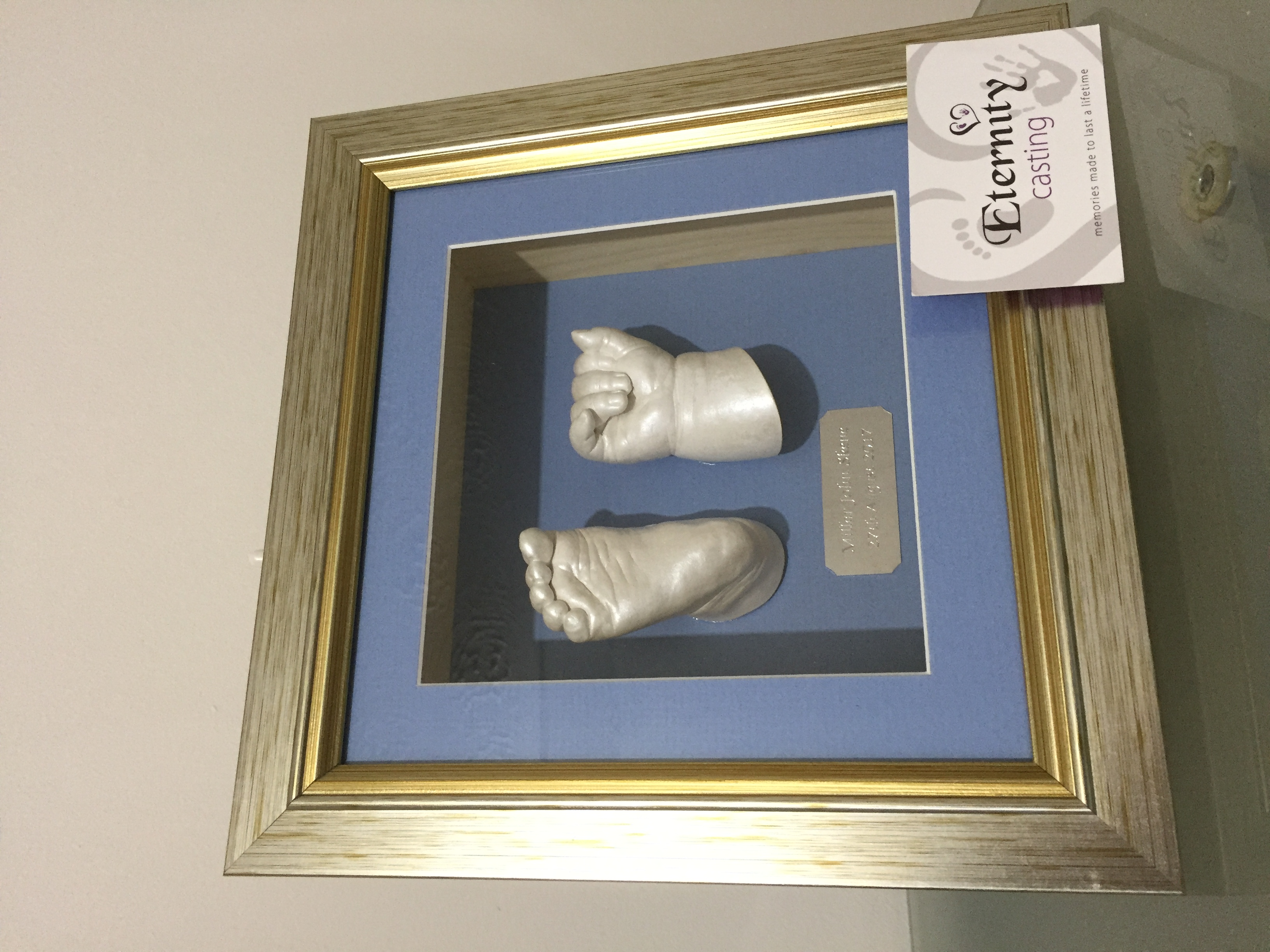 Baby boy framed cast