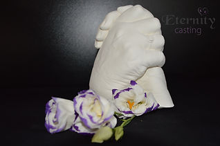 Adult clasped hand cast