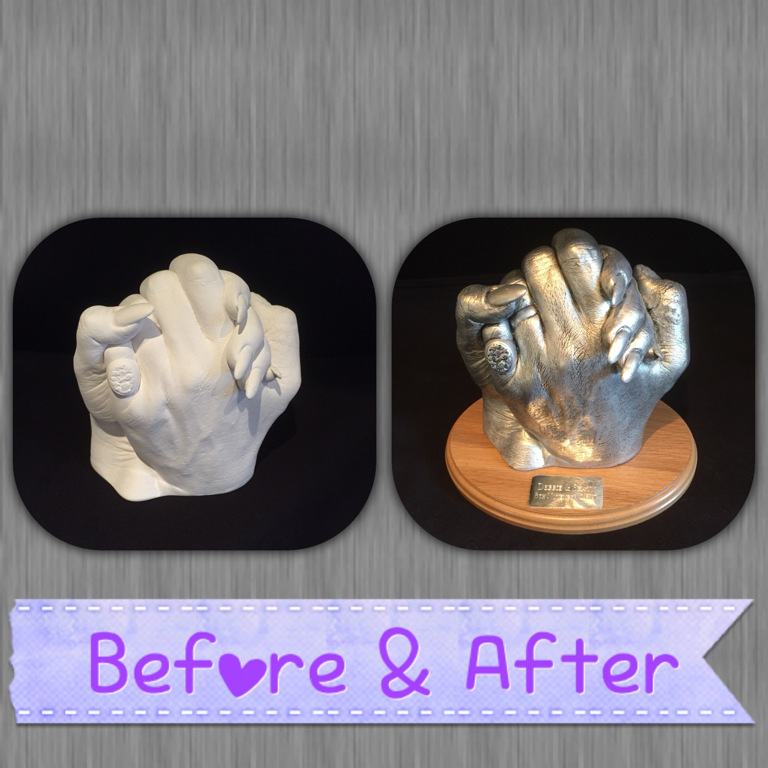 couple cast before and after