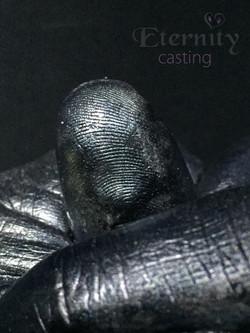 Finger print detail frpm cast