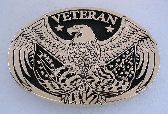 Veteran Eagle Belt Buckle