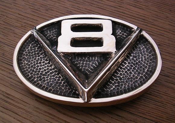 V8 Oval Belt Buckle