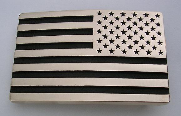 Reverse American Flag Belt Buckle